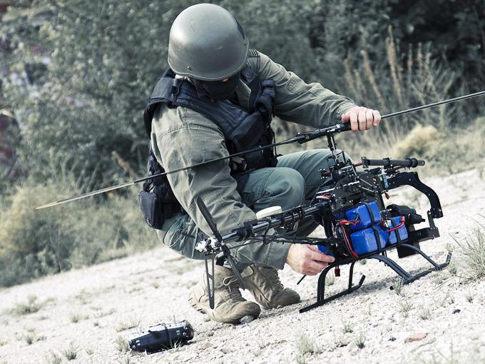 How to break a military drone reconnaissance?